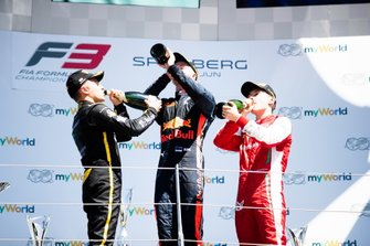 Juri Vips, Hitech Grand Prix Max Fewtrell, ART Grand Prix and Marcus Armstrong, PREMA Racing