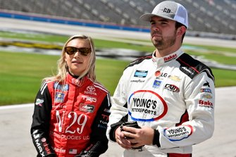 Natalie Decker, DGR-Crosley, Toyota Tundra N29 Technologies LLC and Gus Dean, Young's Motorsports, Chevrolet Silverado Basin Pump Down Services