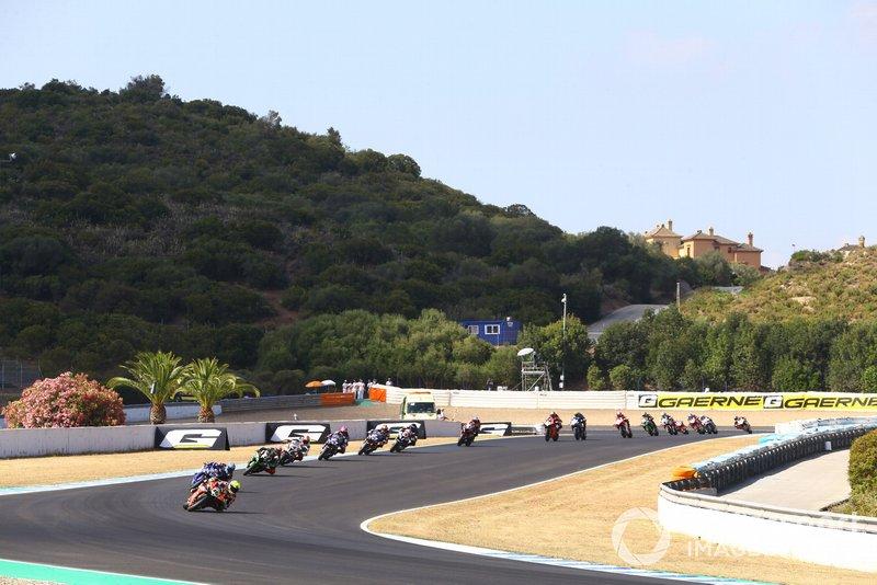 Alvaro Bautista, Aruba.it Racing-Ducati Tea ,lidera la primera vuelta