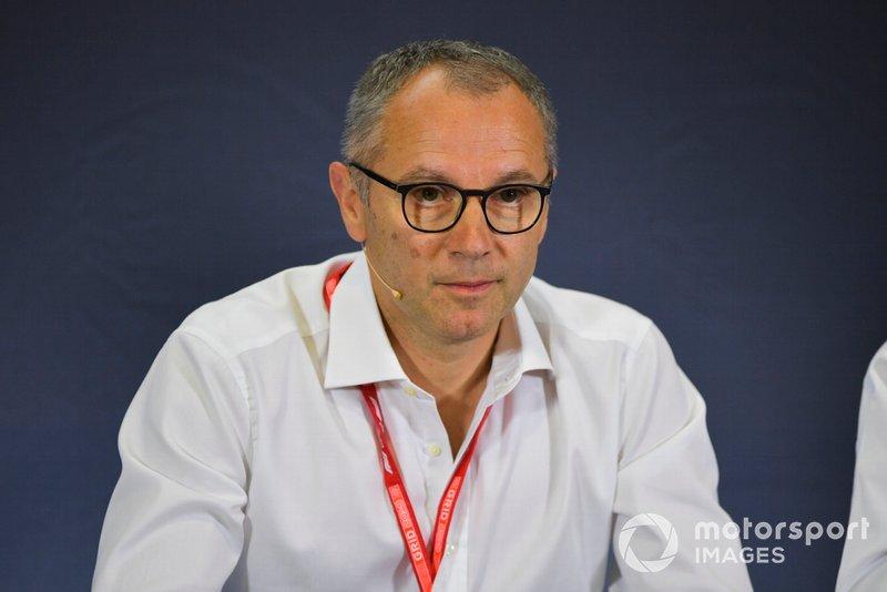 Stefano Domenicali alla conferenza stampa per le nuove gomme F2