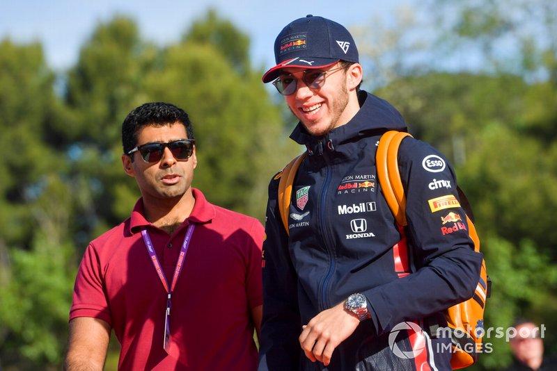 Pierre Gasly, Red Bull Racing et Karun Chandhok, Sky TV