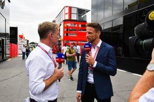Simon Lazenby and Jenson Button, Sky Sports F1