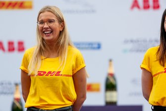 A member of the DHL promotional team