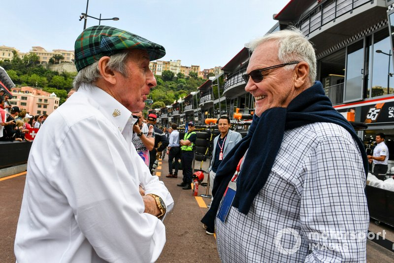 Sir Jackie Stewart, triple Champion du monde et Patrick Head, co-fondateur de Williams Racing