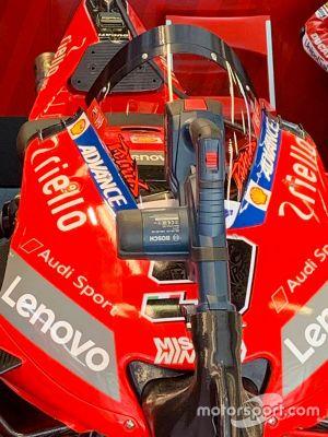 Ducati Team screen detail