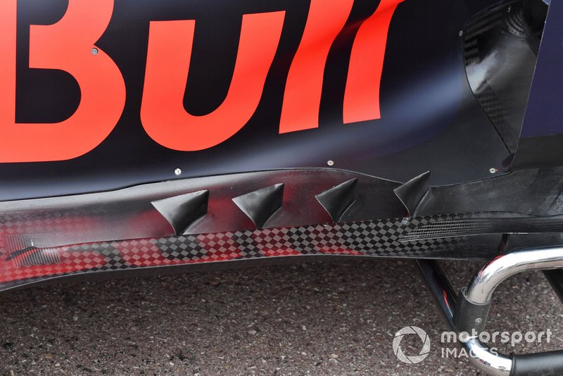 Red Bull Racing RB15 floor detail