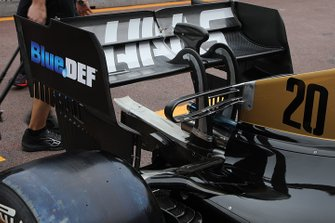 Haas F1 Team rear wing technical detail