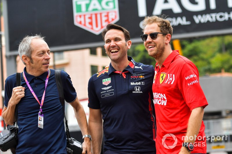 Sebastian Vettel, Ferrari and Mark Thompson, Photographer