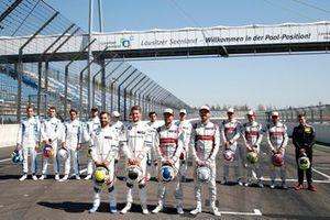 Conductores alemanes, Timo Glock, BMW Team RMG, Marco Wittmann, BMW Team RMG, Mike Rockenfeller, Audi Sport Team Phoenix, René Rast, Audi Sport Team Rosberg