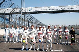 Duitse coureurs, Timo Glock, BMW Team RMG, Marco Wittmann, BMW Team RMG, Mike Rockenfeller, Audi Sport Team Phoenix, René Rast, Audi Sport Team Rosberg