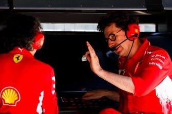 Mattia Binotto, Team Principal Ferrari, on the pit wall