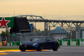 An AMG Mercedes Hot Laps car on track