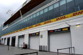 The Pirelli Hot Laps garages