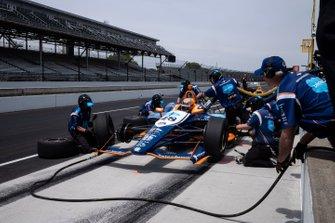 JR Hildebrand, Dreyer & Reinbold Racing Chevrolet, pit stop