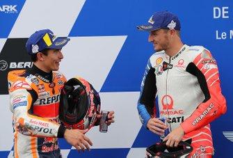 Обладатель поула Марк Маркес, Repsol Honda Team, третье место – Джек Миллер, Alma Pramac Racing