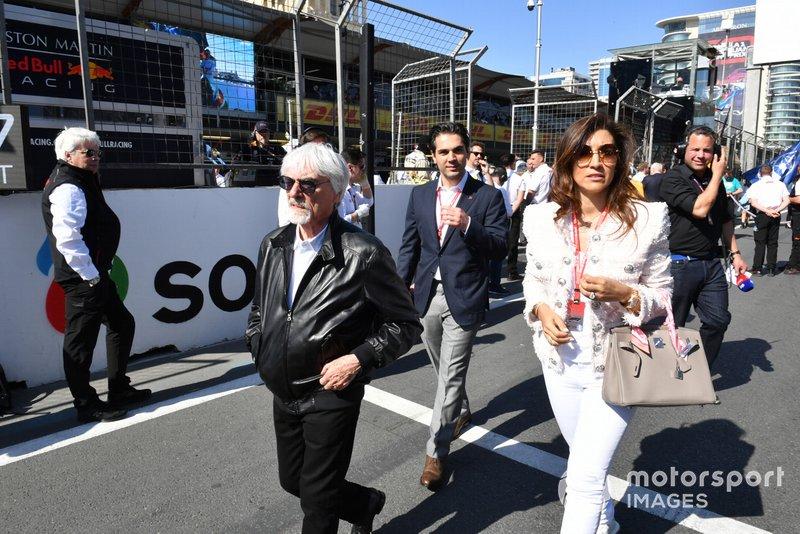Bernie Ecclestone, Presidente Emerito della Formula 1, in griglia
