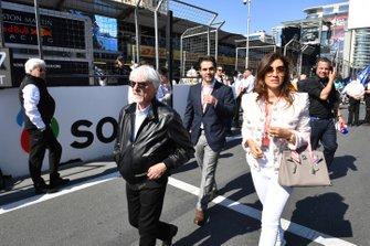 Bernie Ecclestone, Chairman Emiritus of Formula 1, on the grid