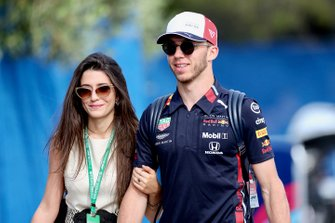 Pierre Gasly, Red Bull Racing, with his girlfriend Caterina Masetti Zannini