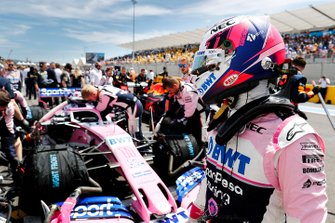 Sergio Perez, Racing Point, op de startgrid