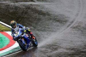 Sandro Cortese, GRT Yamaha WorldSBK en las vueltas de evaluación en mojado