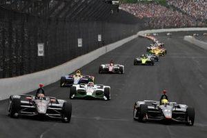 Will Power, Team Penske Chevrolet, Spencer Pigot, Ed Carpenter Racing Chevrolet