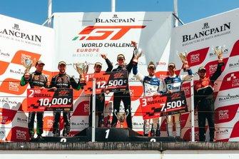 Podium: 1. #2 Belgian Audi Club Team WRT Audi R8 LMS GT3: Charles Weerts, Dries Vanthoor, 2. #563 Orange 1 FFF Racing Team Lamborghini Huracan GT3 Evo: Andrea Caldarelli, Marco Mapelli, 3. #25 Sainteloc Racing Audi R8 LMS GT3: Simon Gachet, Christopher Haase