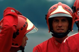 The fire marshals were to save the life of Gerhard Berger, Ferrari
