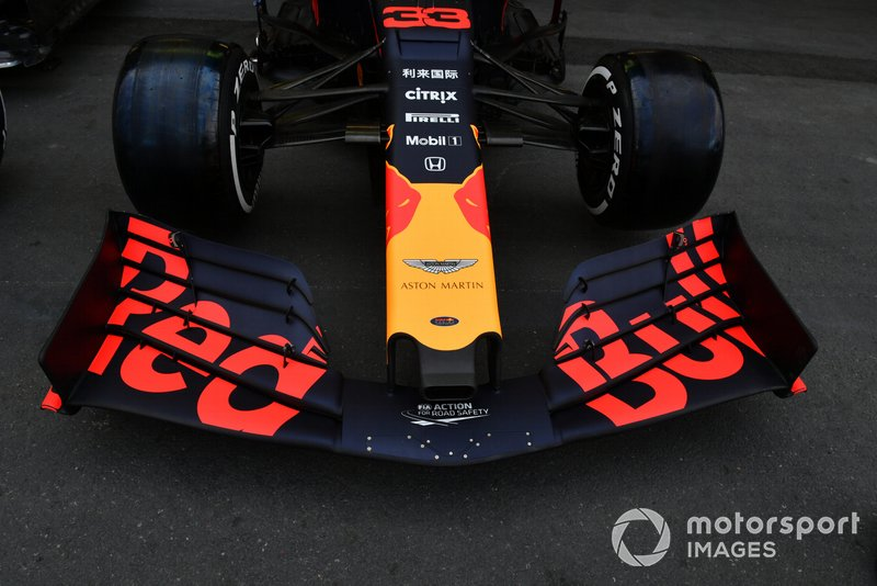 Alerón delantero en Red Bull Racing RB15