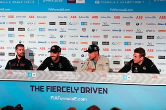 Jose Maria Lopez, GEOX Dragon Racing, Jean-Eric Vergne, DS TECHEETAH, Mitch Evans, Panasonic Jaguar Racing, Oliver Rowland, Nissan e.Dams in the press conference