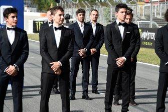 Marc Marquez, Repsol Honda Team, Jorge Lorenzo, Repsol Honda Team, Joan Mir; Team Suzuki MotoGP