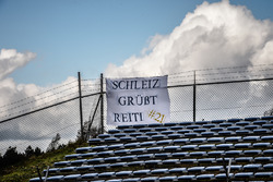 A support banner for Markus Reiterberger, Althea BMW Team