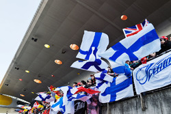 Des fans de Kimi Raikkonen, Ferrari dans les tribunes