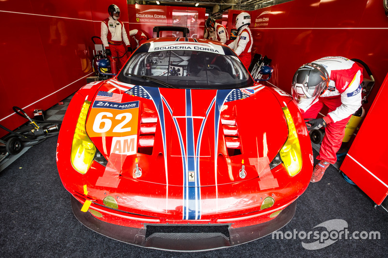 56: #62 Scuderia Corsa Ferrari 458 Italia: Bill Sweedler, Jeff Segal, Townsend Bell