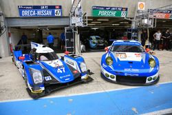 Экипажи #47 KCMG Oreca 05 Nissan и #78 KCMG Porsche 911 RSR