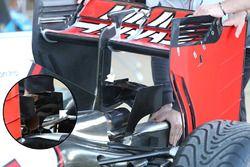 Detalle de asiento del F1 de Haas VF-16