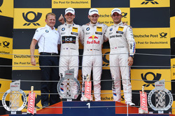 Podium: Race winner Marco Wittmann, BMW Team RMG, BMW M4 DTM; second Tom Blomqvist, BMW Team RBM, BMW M4 DTM; third Bruno Spengler, BMW Team MTEK, BMW M4 DTM and Stefan Reinhold, BMW Team RMG