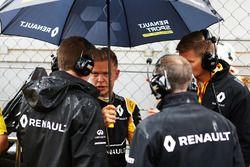 Kevin Magnussen, Renault Sport F1 Team, sur la grille de départ