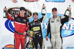 Victory Lane: winner Alex Tagliani, second place Cayden Lapcevich, third place Larry Jackson