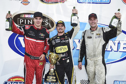 Victory Lane: winner Alex Tagliani, second place Cayden Lapcevich, third place Larry Jackson