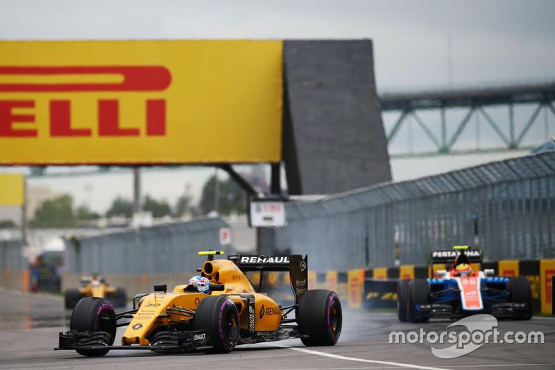 Джоліон Палмер, Renault Sport F1 Team RS16, блокування при гальмуванні