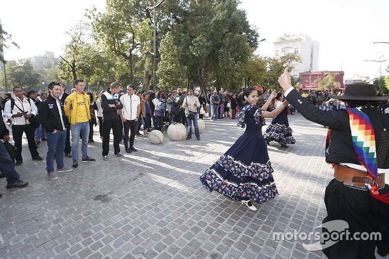 WTCC-Fahrer in Santiago