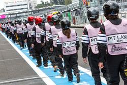 Pit lane marshals
