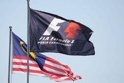 Banderas de F1 y de Malasia