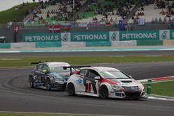 Roberto Colciago, Honda Civic TCR, Target Competition en Dusan Borkovic, Seat Leon, B3 Racing Team H