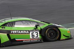 #63 GRT Grasser Racing Team Lamborghini Huracan GT3: Nicolas Pohler, Mirko Bortolotti