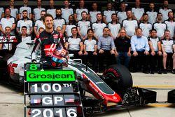 The 2016 United States Grand Prix marked Romain Grosjean's 100th Formula One start