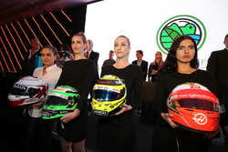 Helmets up for auction at an Inter / Sahara Force India F1 Team event