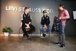 (L to R): Nico Hulkenberg, Sahara Force India F1 and team mate Sergio Perez, Sahara Force India F1 -