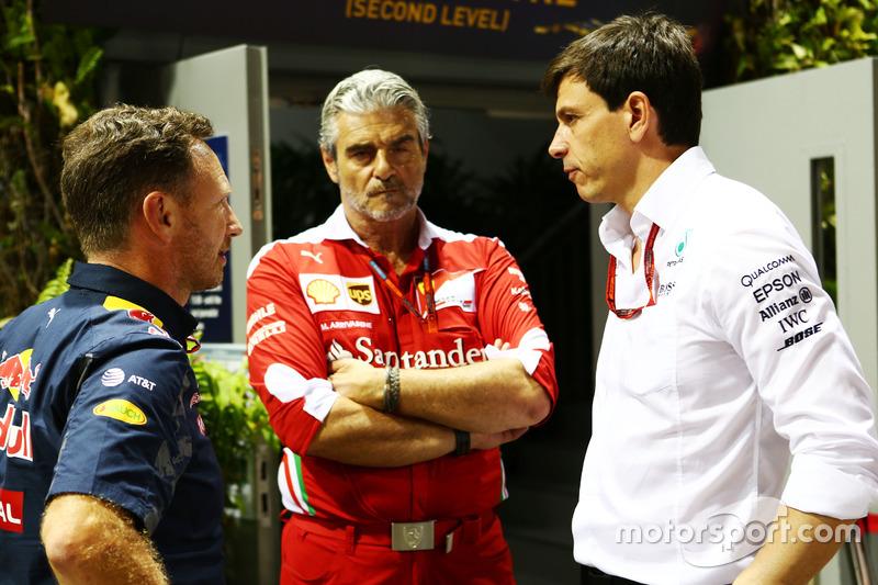 Christian Horner, Red Bull Racing Takım Patronu ve Maurizio Arrivabene, Ferrari Takım Patronu ve Tot