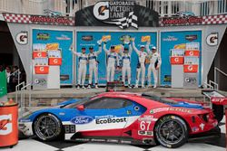 Podium GTLM: 1. Ryan Briscoe, Richard Westbrook, Ford Performance Chip Ganassi Racing; 2. Joey Hand,
